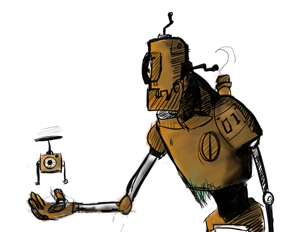 rusty old robot (digitilazation) by F3ras