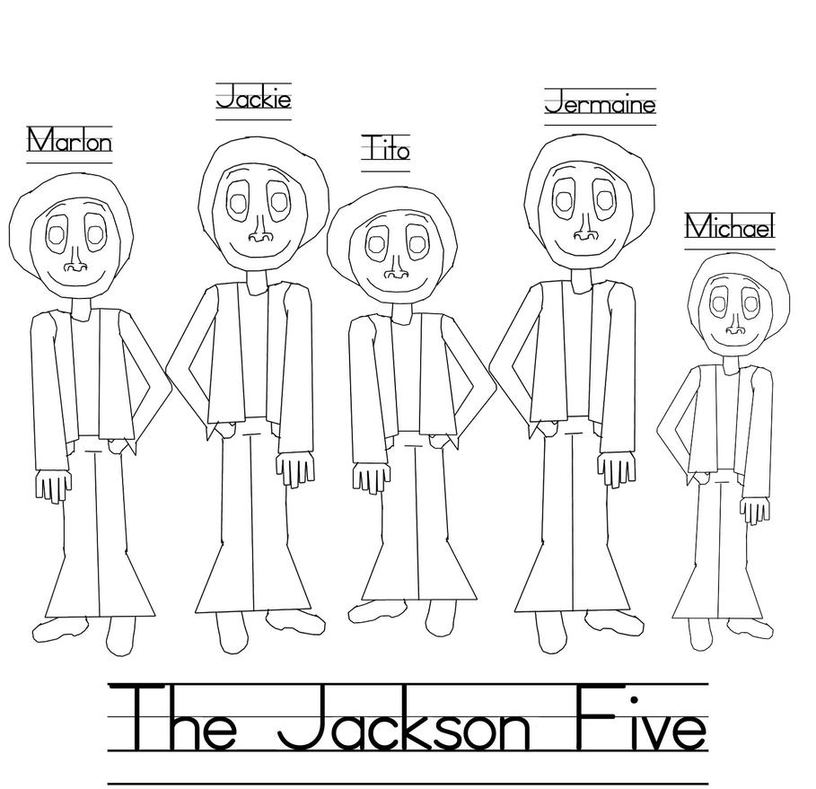 Jackson five coloring page by Darth jackson2 on DeviantArt