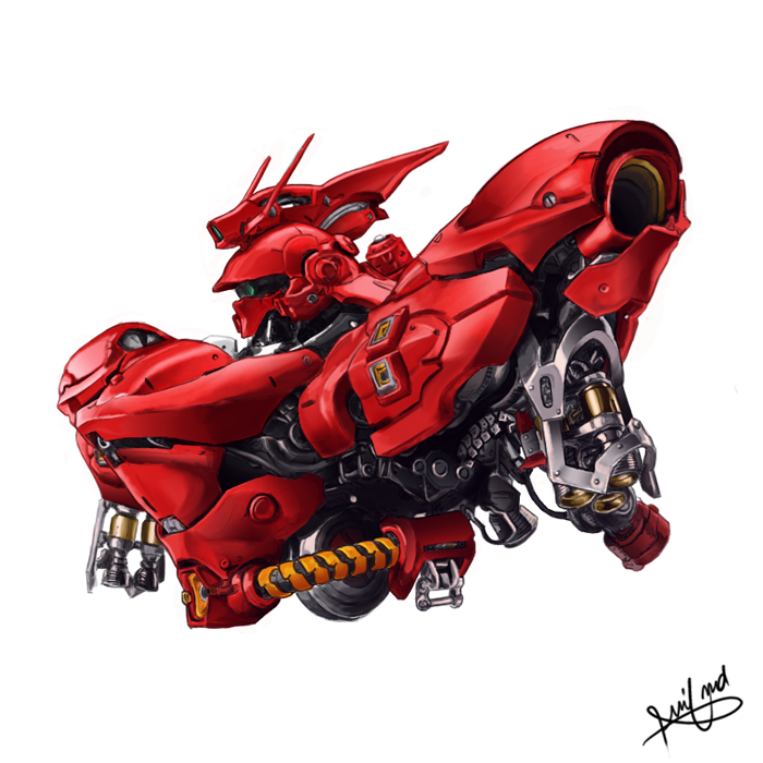 MSN-04 Sazabi by aminkr