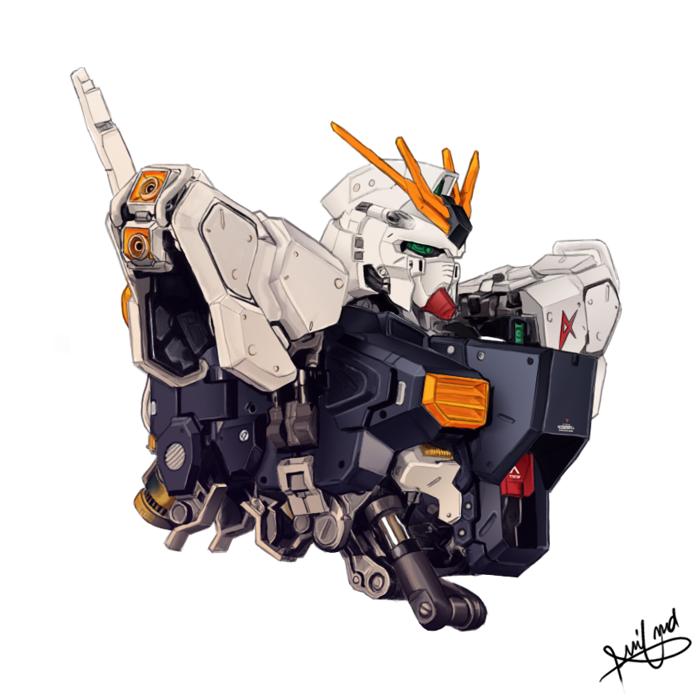 RX-93 Nu Gundam by aminkr