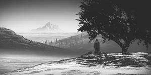 Environment study #09 the lonely mountain