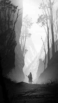 Environment study #15 path through the mountains