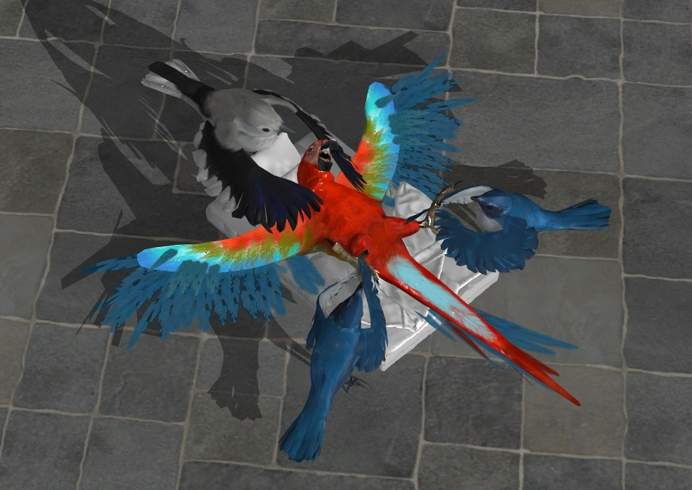 Parrot tickle by Trela1