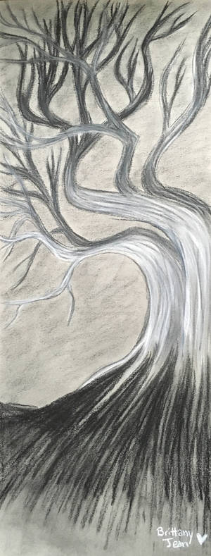 Charcoal Tree Doodle