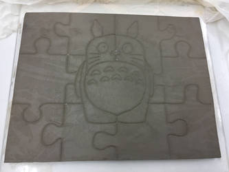 Ceramic Totoro Puzzle WIP by Muse-4-Life