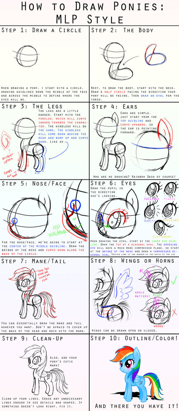 how to draw ponies mlp style by steffy beff on deviantart