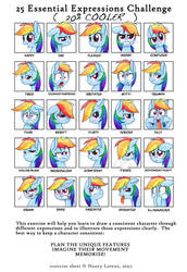 25 Essential Expressions Challenge: Rainbow Dash by steffy-beff