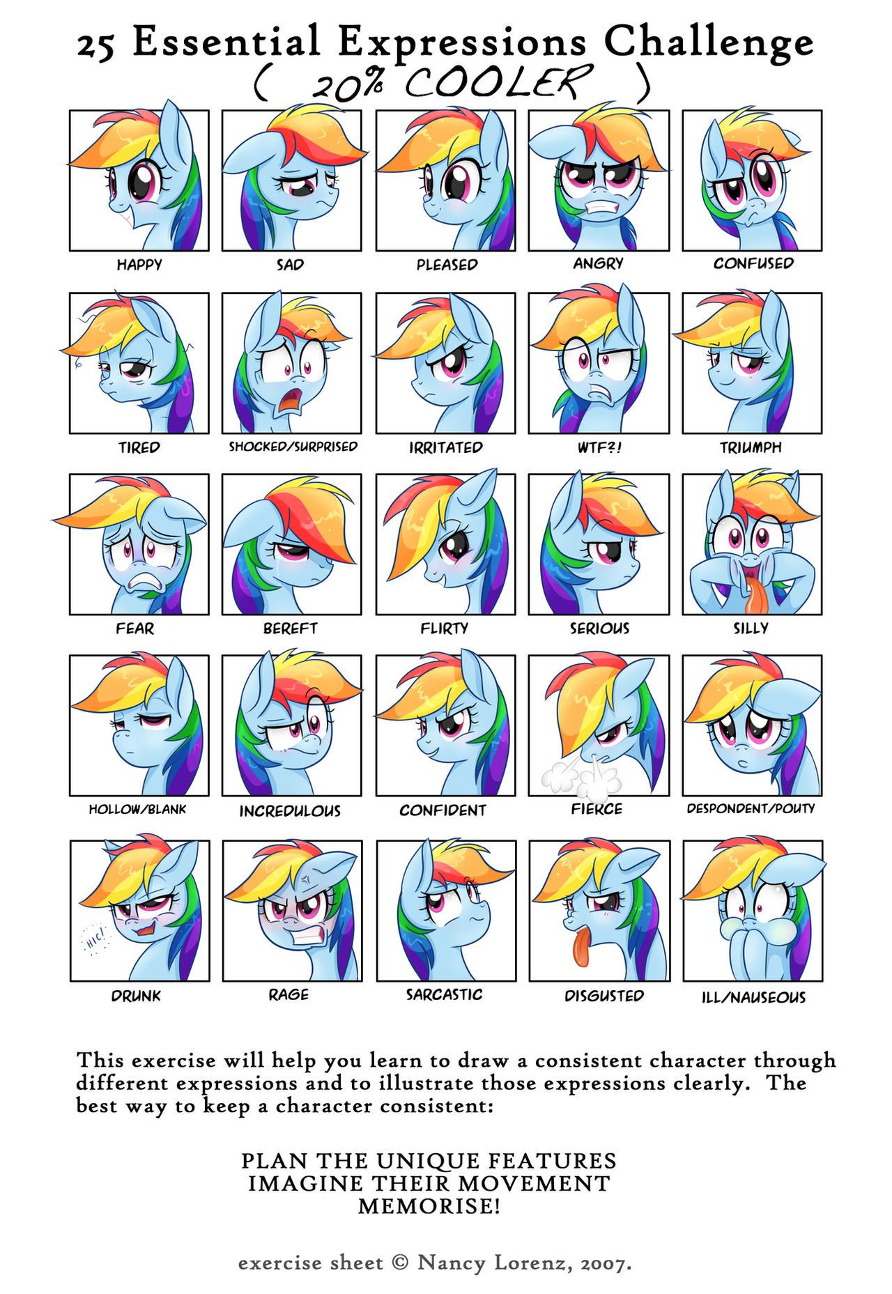 25 Essential Expressions Challenge: Rainbow Dash