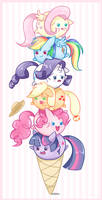 Ice Cream Ponies by steffy-beff