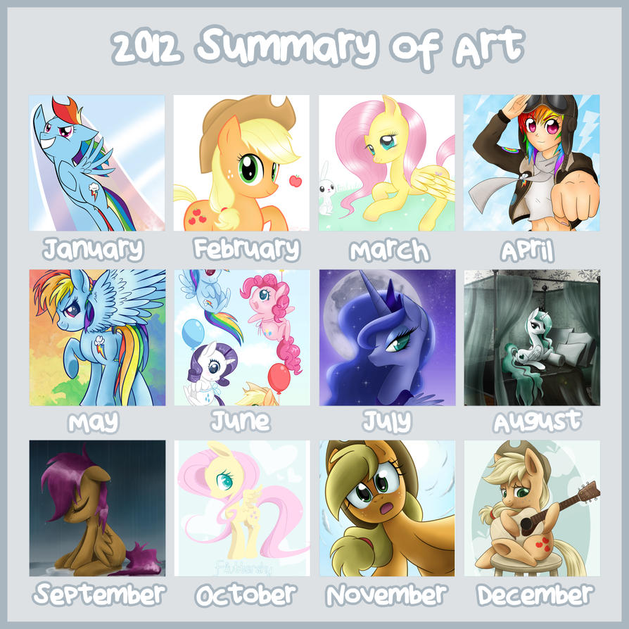 2012 Summary of Art by steffy-beff