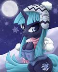Commission: Icy Pony Portrait