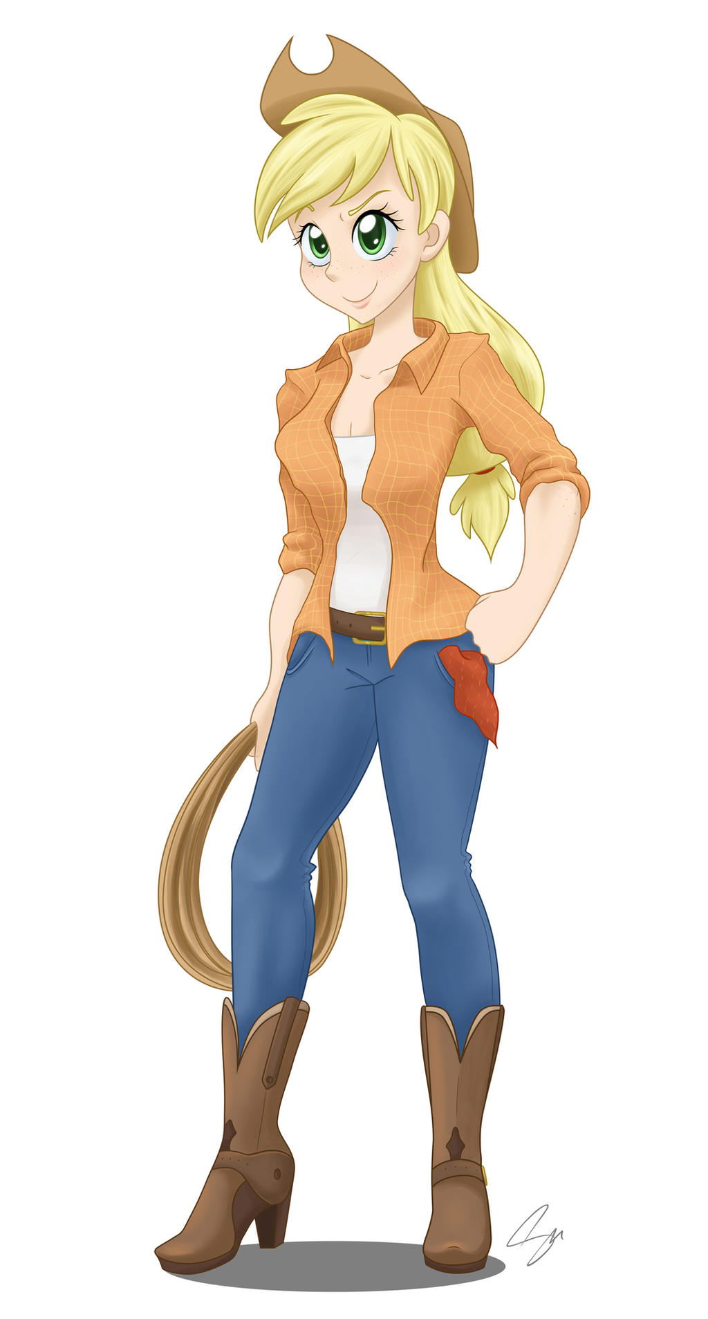 Human Applejack by steffy-beff