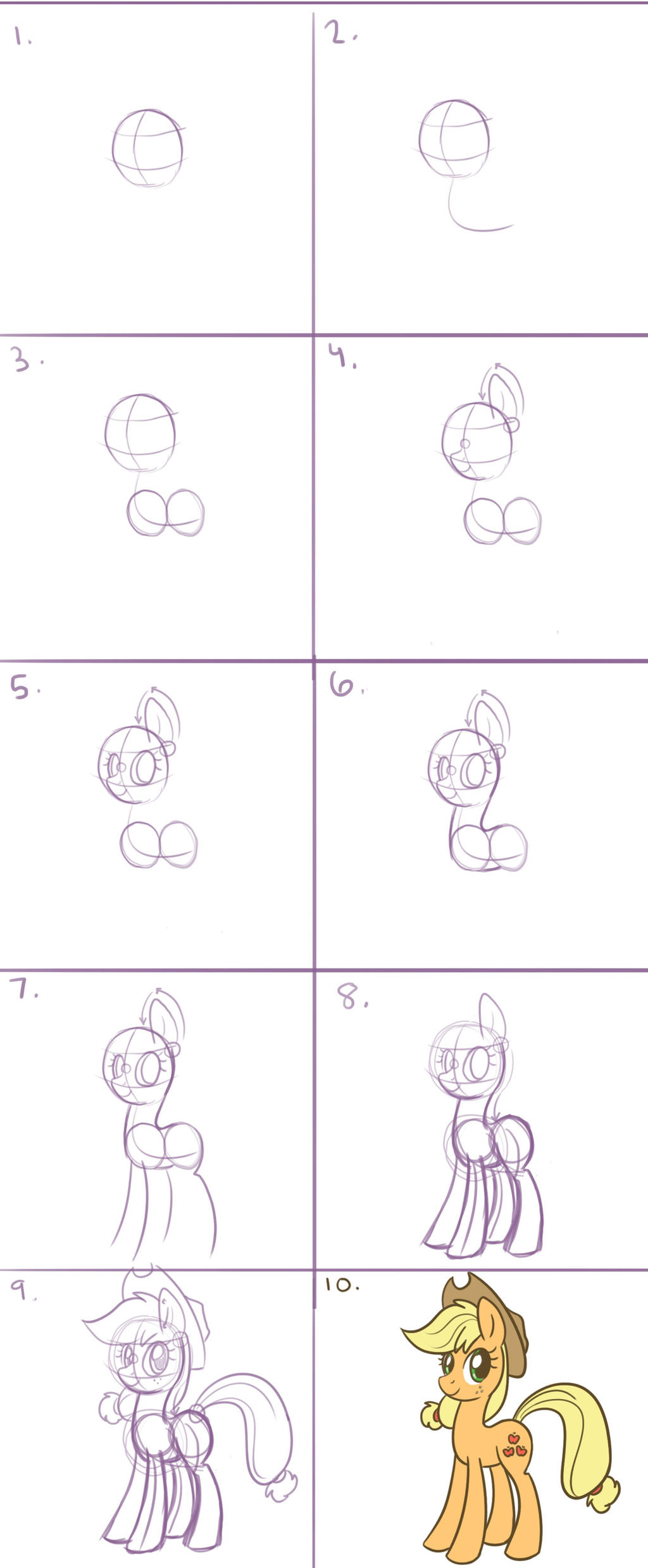 How to Draw a Pony in 10 Steps by steffy-beff