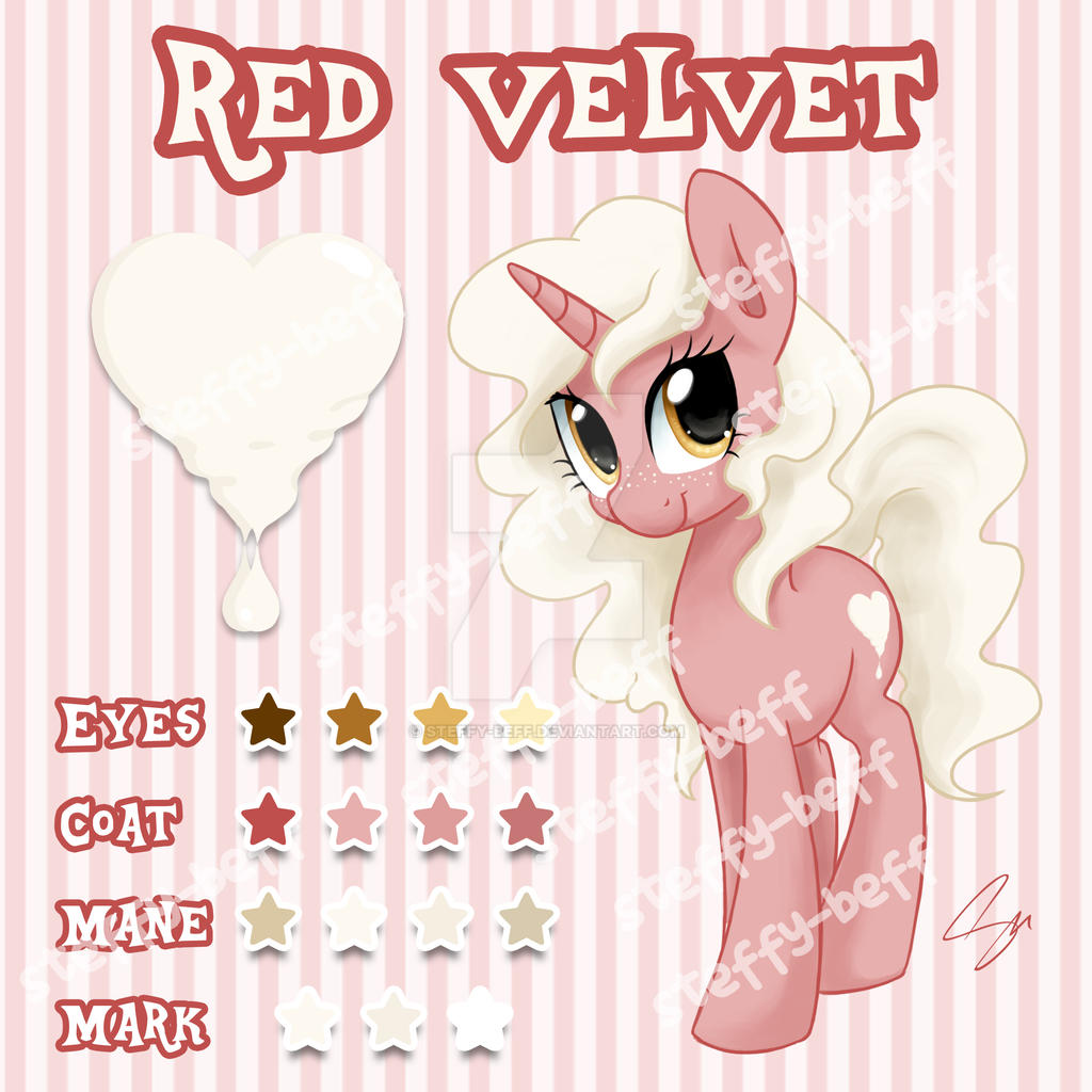 SOLD: Unicorn Adoptable - Red Velvet