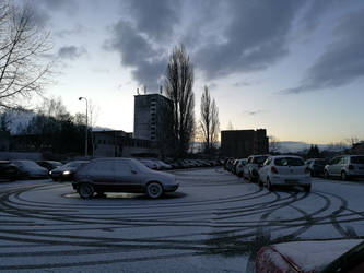 Carpark at dawn by kraah4