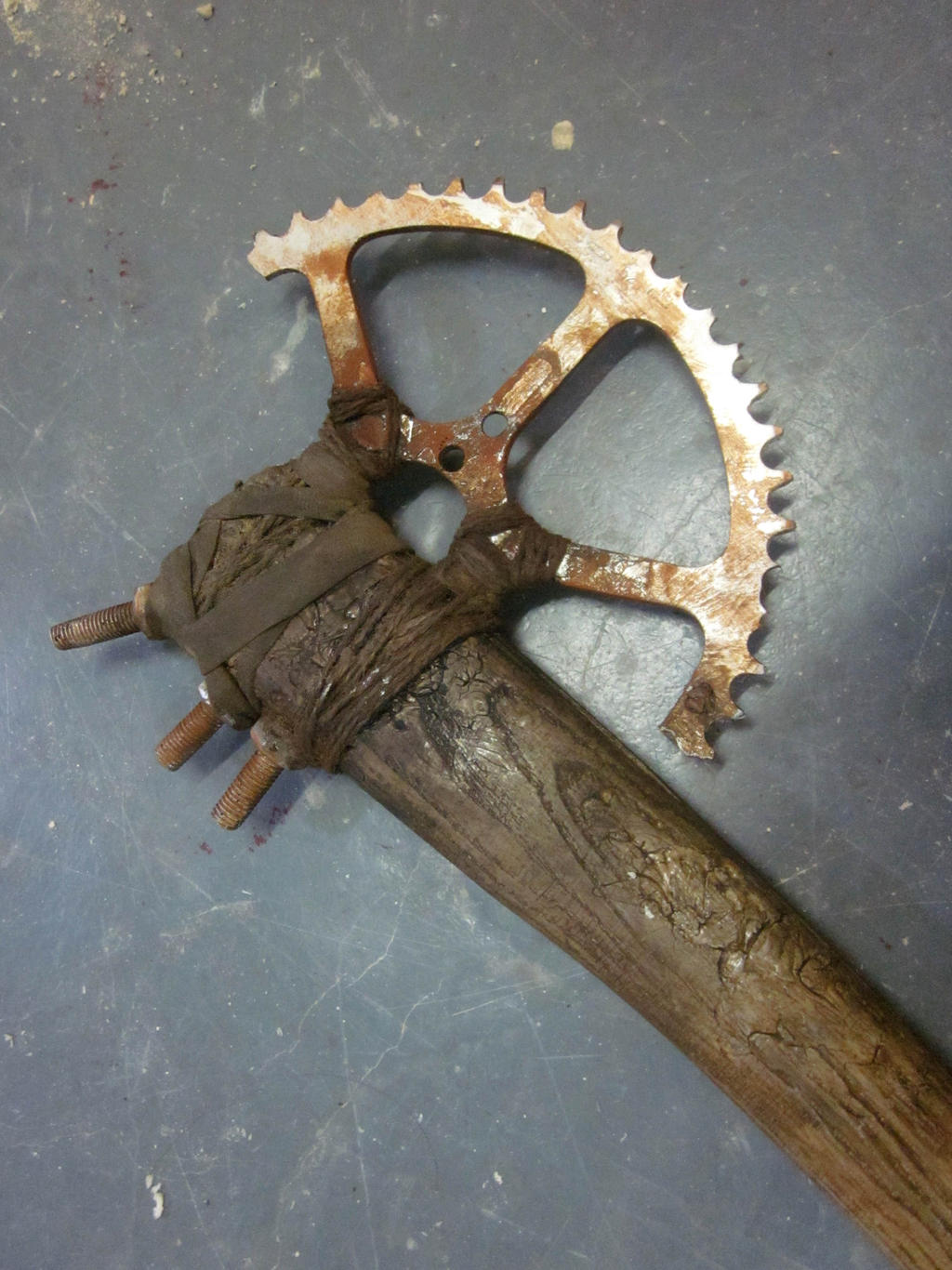 Post apocalyptic prop axe * close up *
