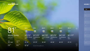 Windows 8 Consumer Preview - Weather