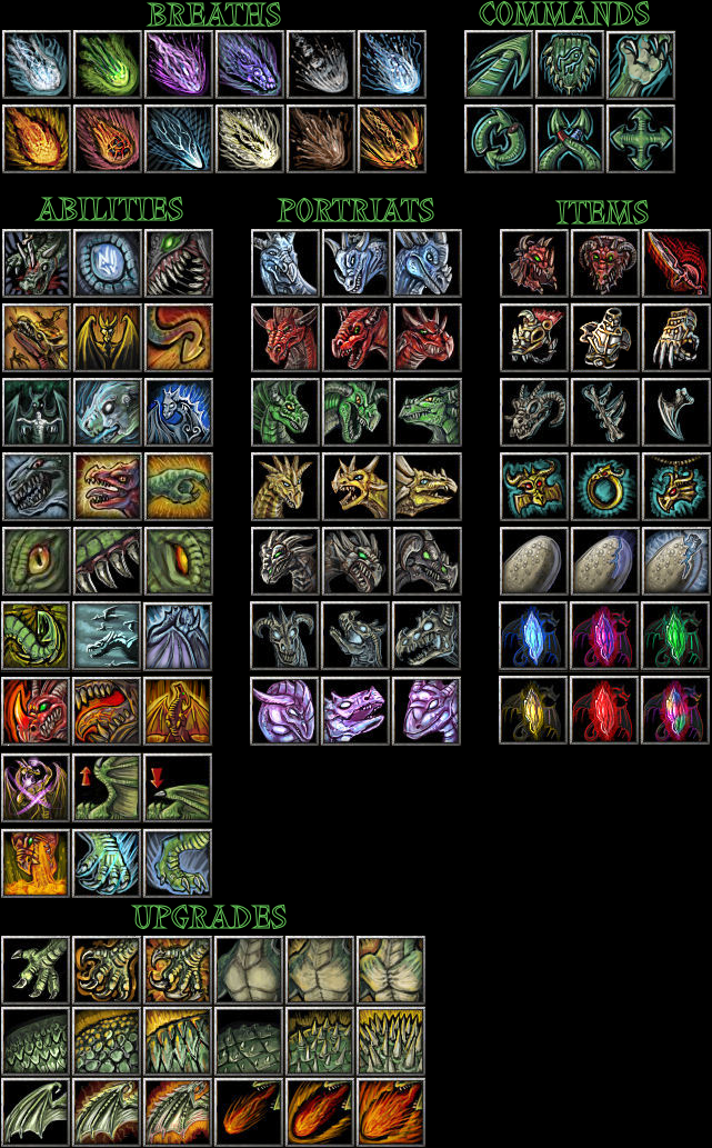 wc3 Dragon themed Icons by The-Monstrum on DeviantArt