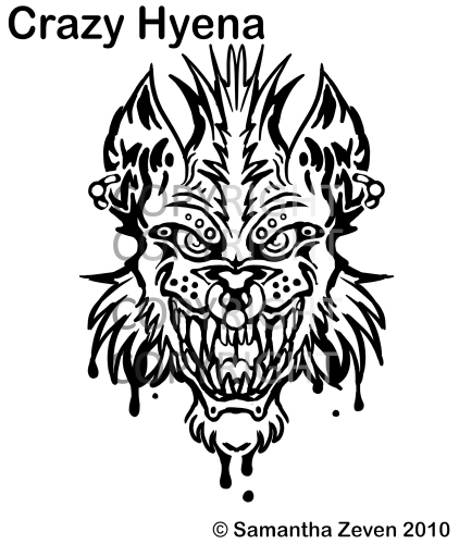 crazy hyena tattoo by the monstrum on deviantart. Black Bedroom Furniture Sets. Home Design Ideas
