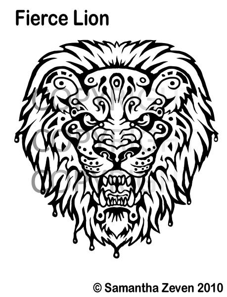 fierce lion tattoo design by the monstrum on deviantart. Black Bedroom Furniture Sets. Home Design Ideas