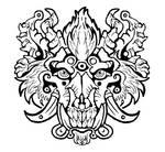Dragon Wolf Boar Tattoo