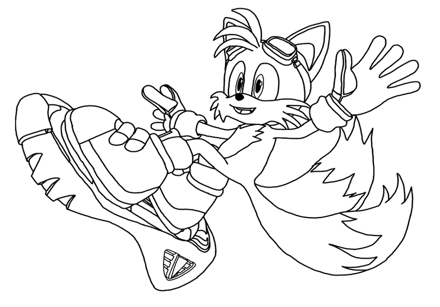 sonic riders coloring pages - photo#16