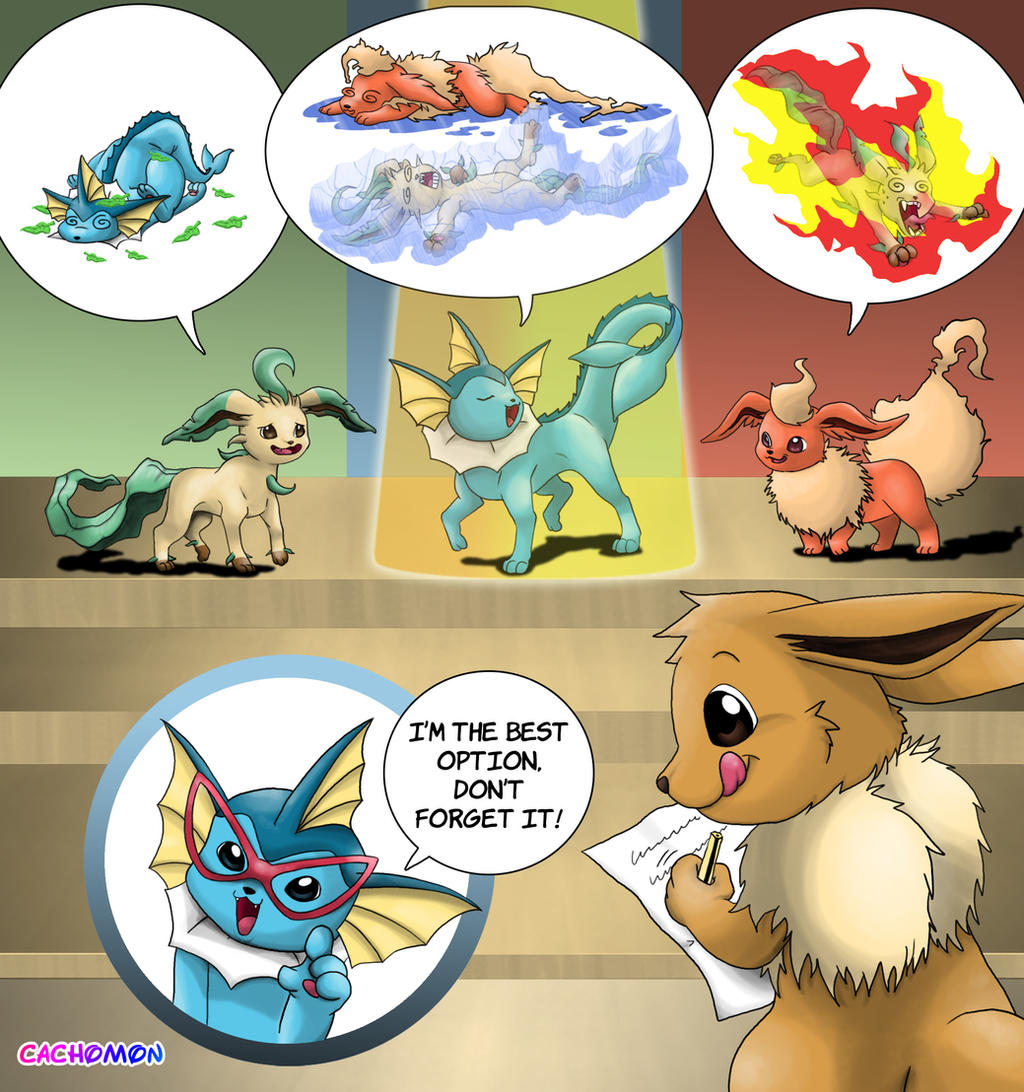 Topic des fanarts Nintendo  - Page 5 Eevee__s_Hard_Choice_Entry_by_Cachomon