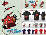 Cute Monsters - design challenge: RED DRAGON