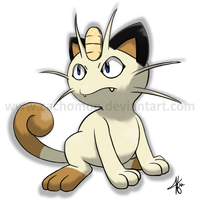 Meowth by Cachomon