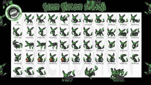 Green Glaceon Shimeji +FREE+