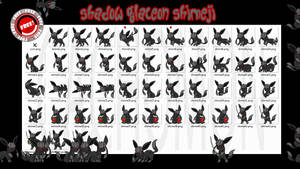 Shadow Glaceon Shimeji +FREE+ by Cachomon