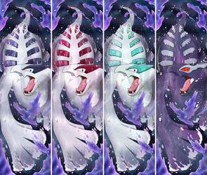 Lugia + Shiny Lugia + Shadow Lugia Bookmarks