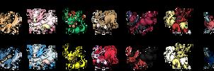 Cachomon's Eeveelution Sprites + Shiny