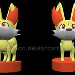 3D Fennekin +Maya+ by Cachomon