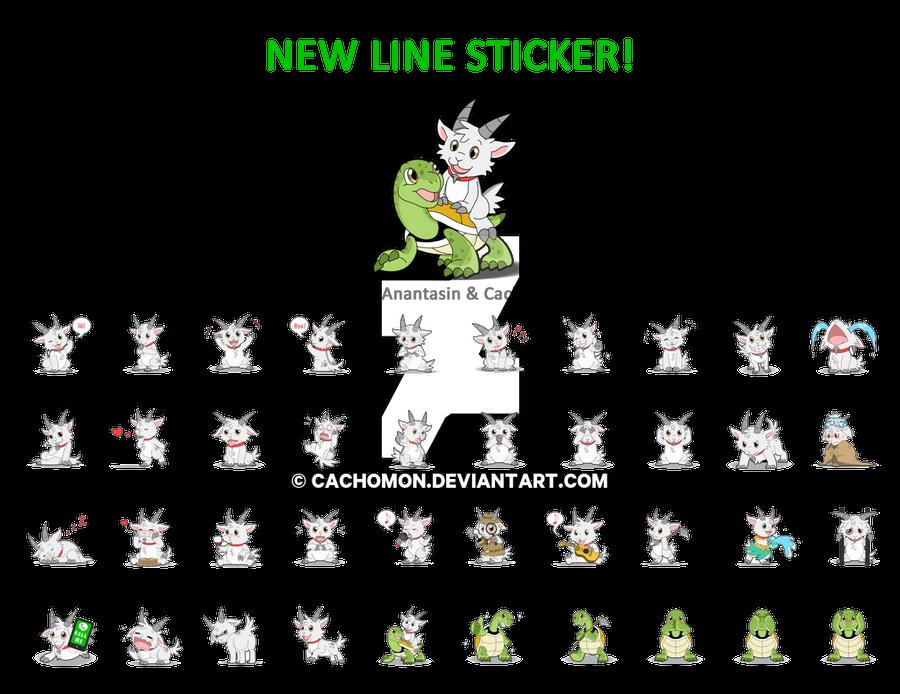 Little Goat - LINE Sticker by Cachomon