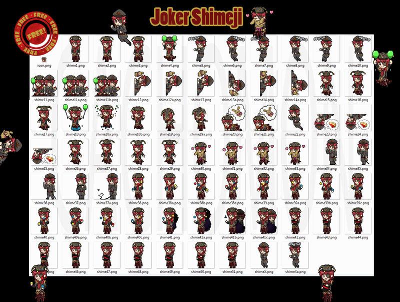 White/Black Joker Shimeji +FREE+