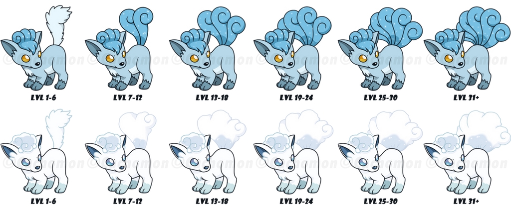 snow and alola vulpix tails growing process by cachomon on clip art canyon clip art cannons and guns