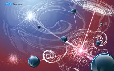 Futuristic nanotechnology background