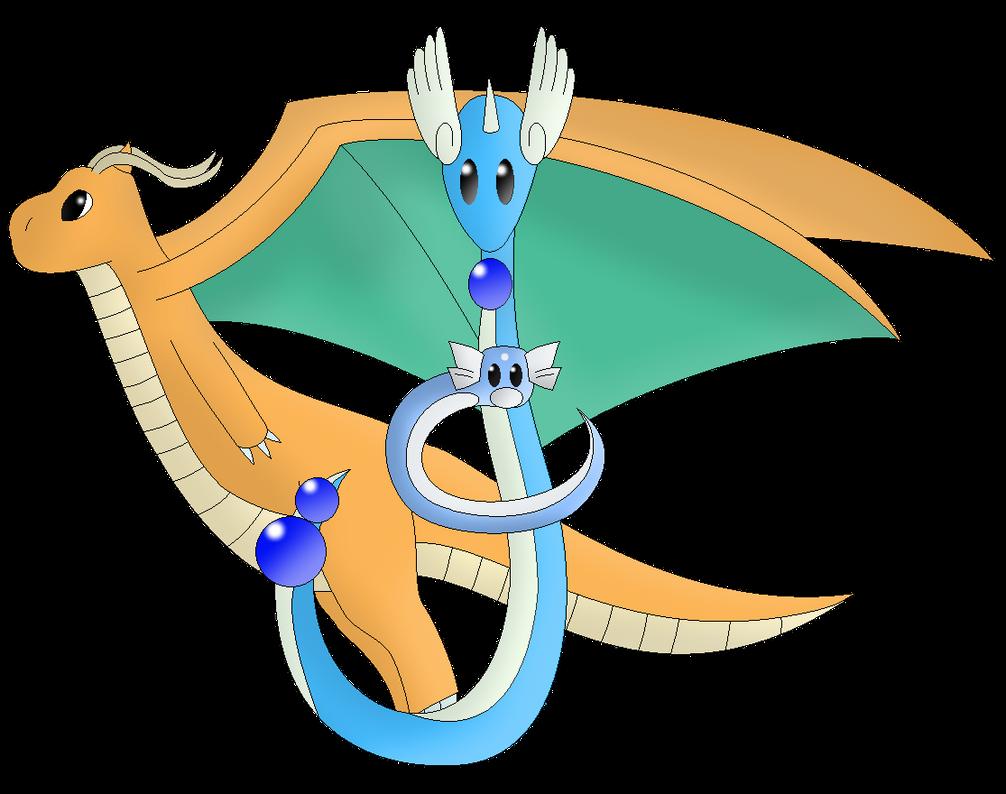 Dragonite, Dragonair and Dratini by SurrenderToNothing22 ...  Dragonite, Drag...