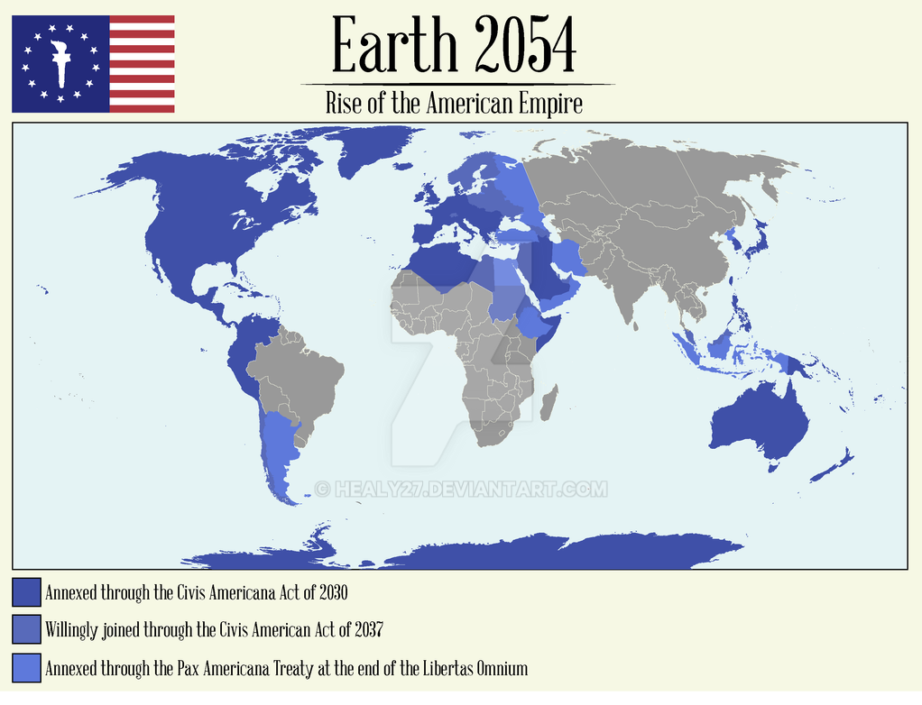 map of the american empire 2054 by healy27