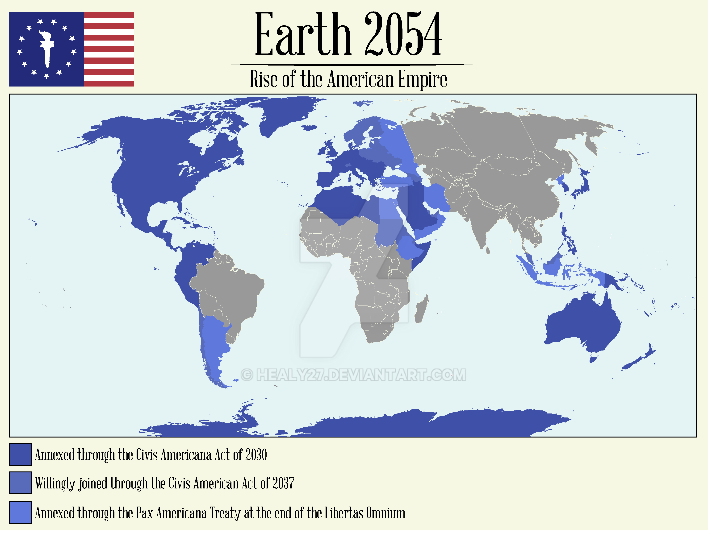 Map of the American Empire 2054 by Healy27 on DeviantArt
