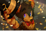 Hats off to the new year // 2020 art (Anthro) by PurpleFoxKinz