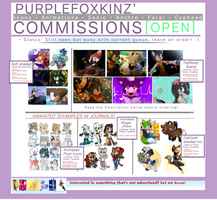PurpleFoxKinz' COMMISSIONS [OPEN] | Art + Icons