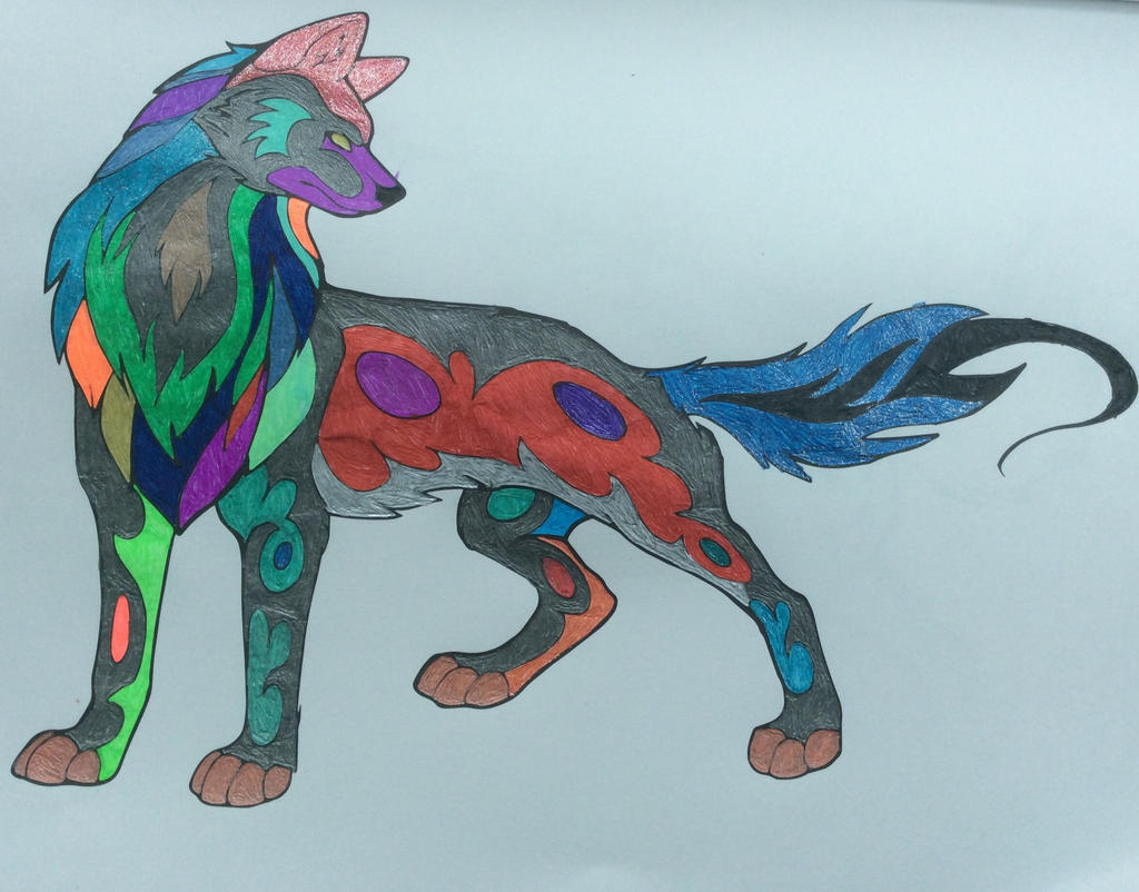The colorful wolf by sonicman613 on DeviantArt