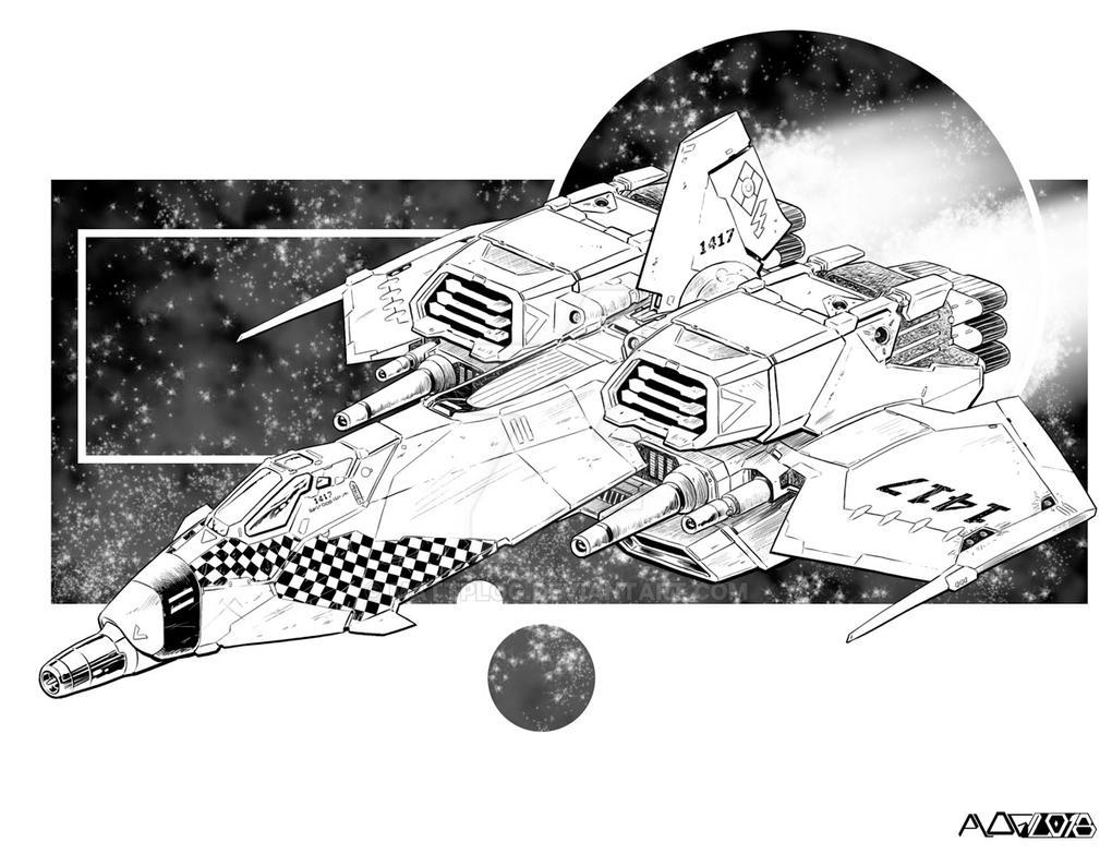 Comm: Heavy Aerofighter A by mattPLOG