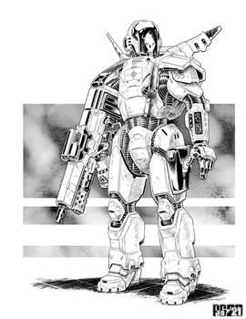 Comm:  Trooper Powered Armor