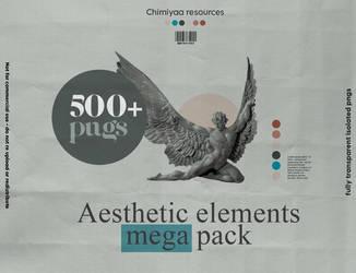 aesthetic elements mega pack | Chimiyaa