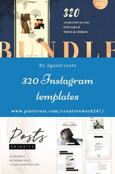 320 Instagram templates by creativework247