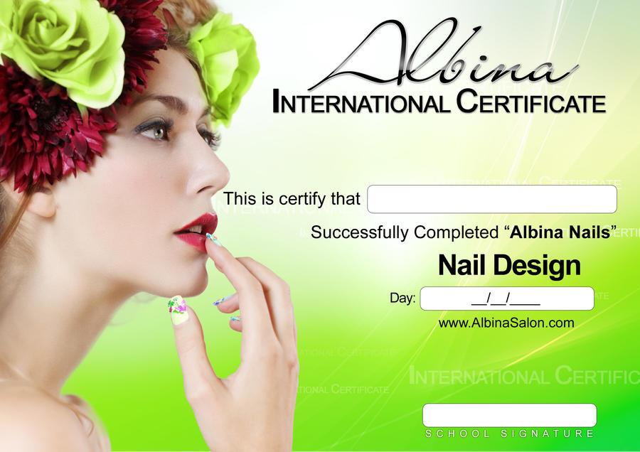 Nail Design Certificate Albina By Koshelkov On Deviantart