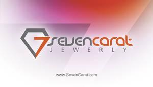 7Carat business card Purple